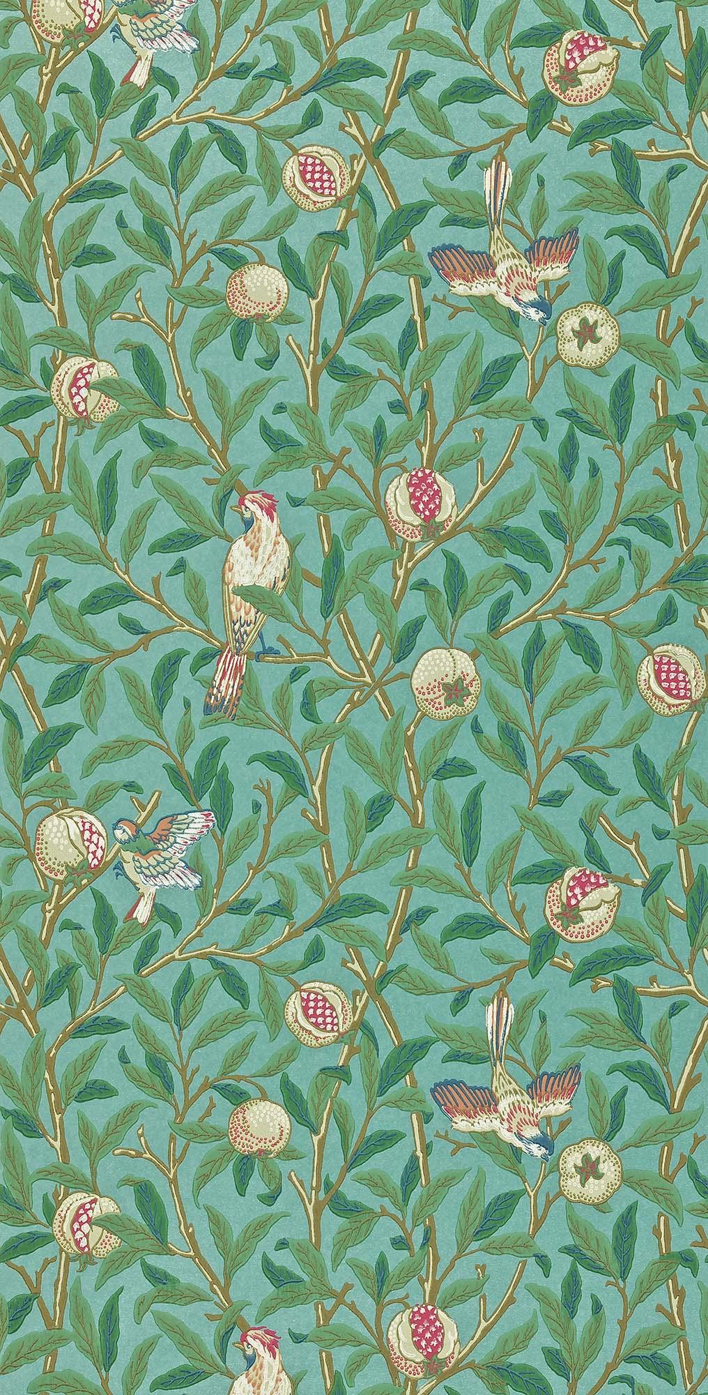 ウィリアムモリス壁紙 Bird & Pomegranate 212538