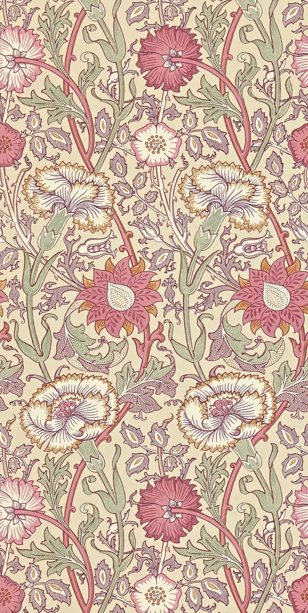ウィリアムモリス壁紙 Pink & Rose 212566