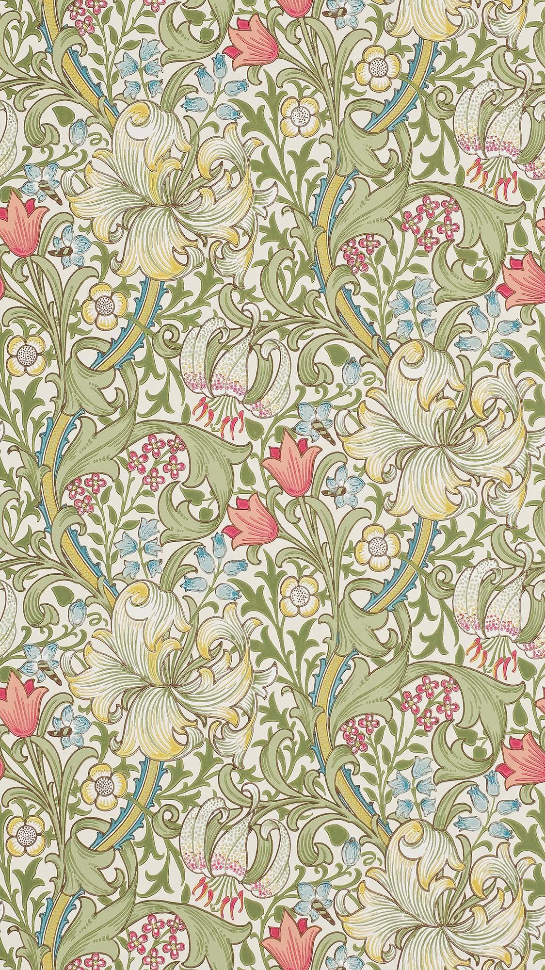 ウィリアムモリス壁紙 Garden Lily 210398