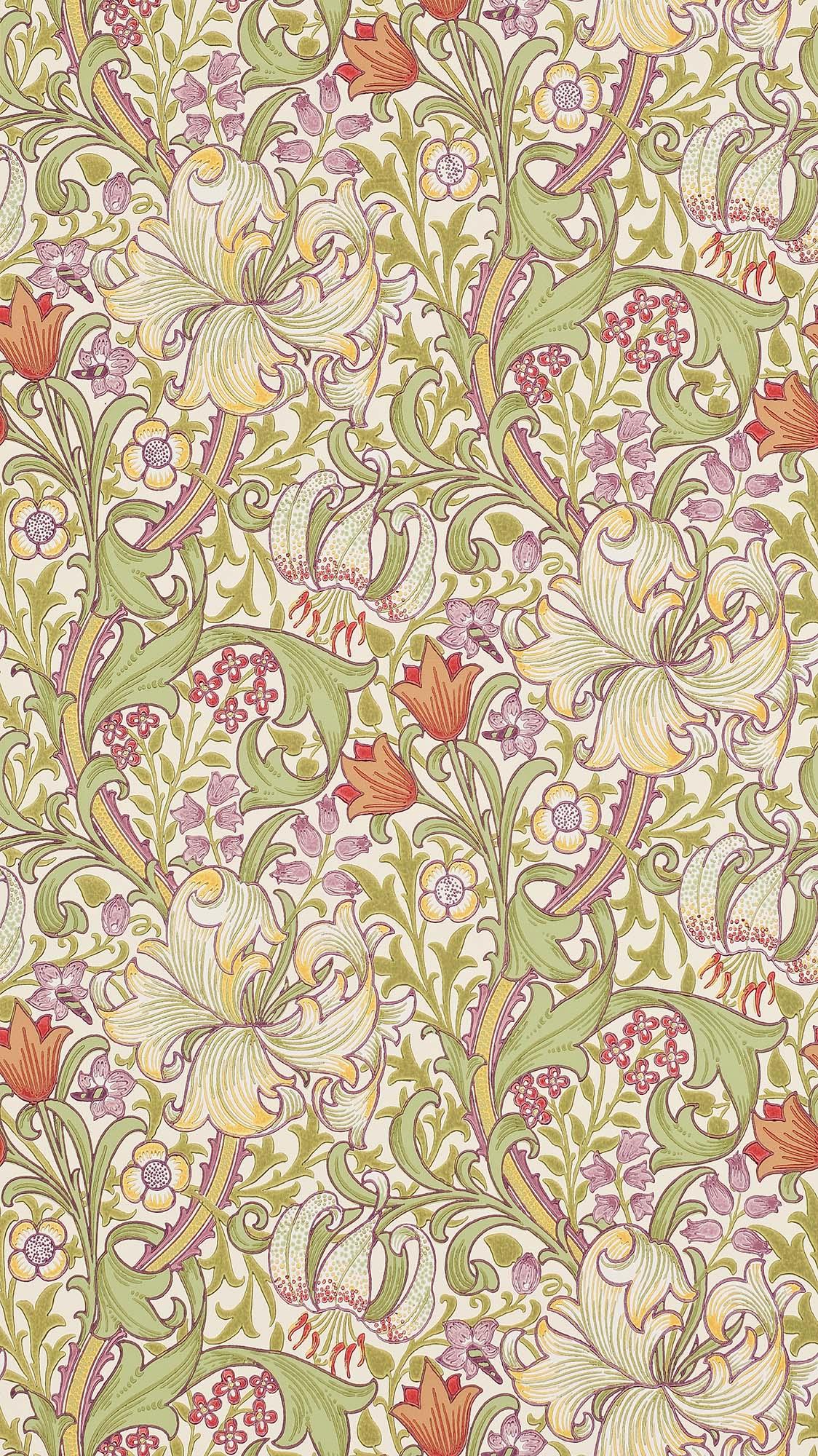 ウィリアムモリス壁紙 Garden Lily 210399