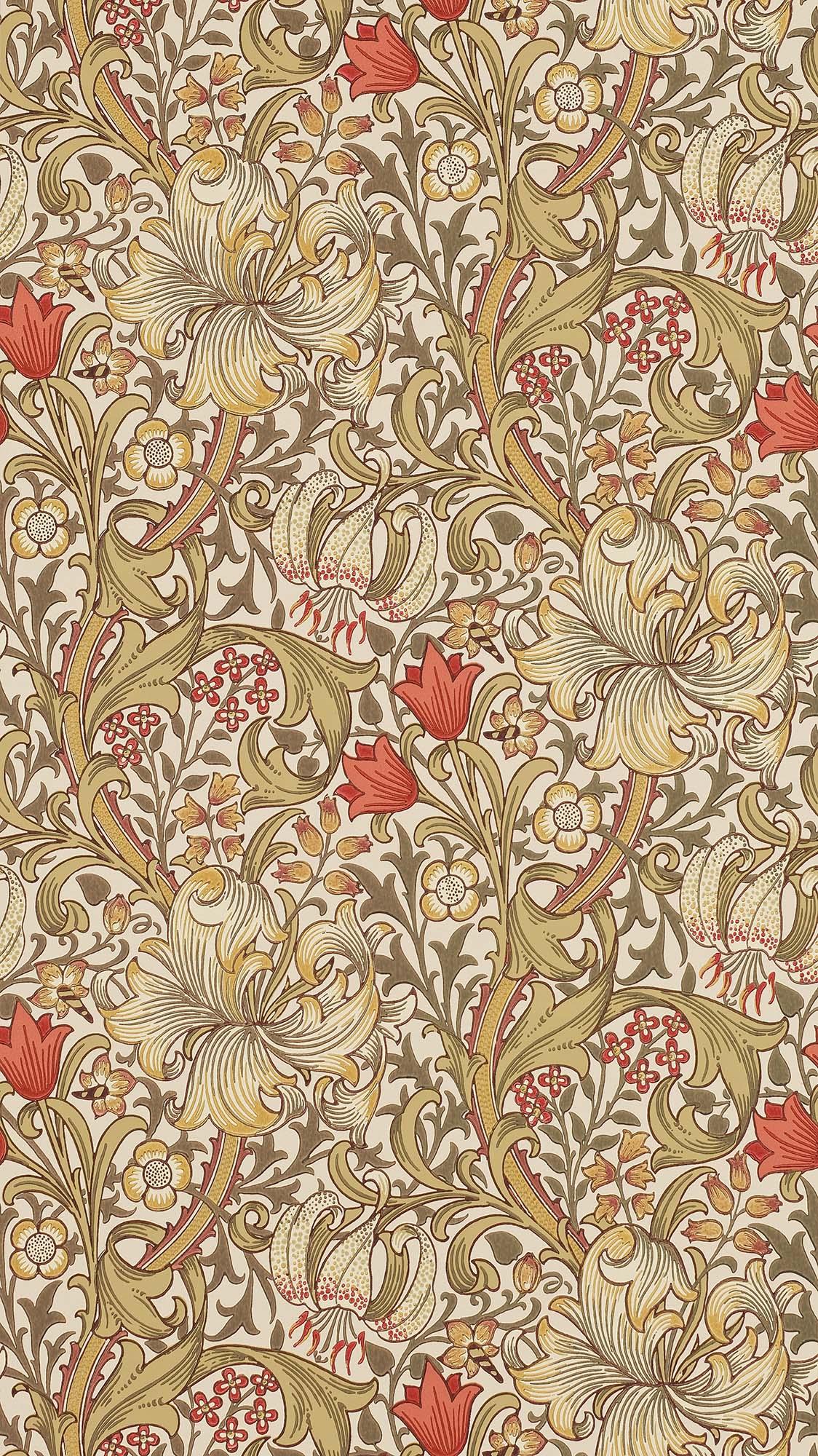ウィリアムモリス壁紙 Garden Lily 210400