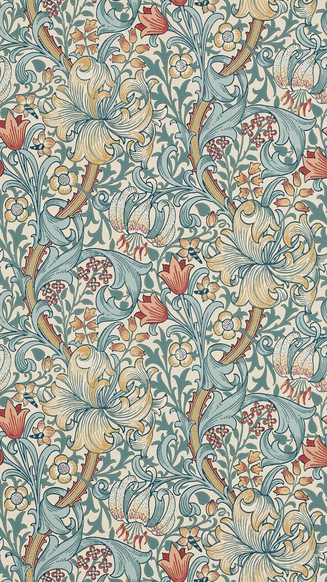 ウィリアムモリス壁紙 Garden Lily 210401