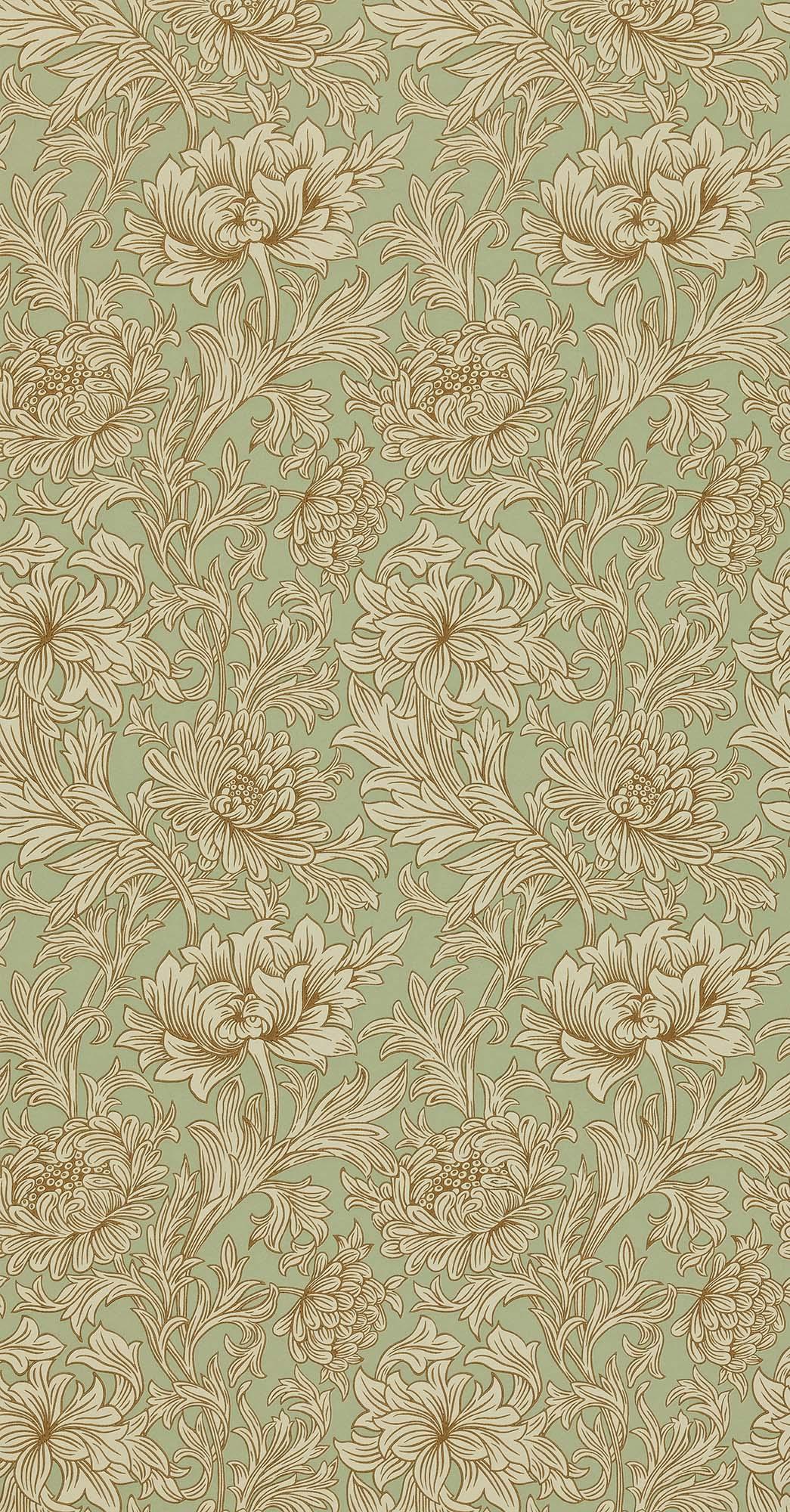 ウィリアムモリス壁紙 Chrysanthemum Toile DMOWCH-104
