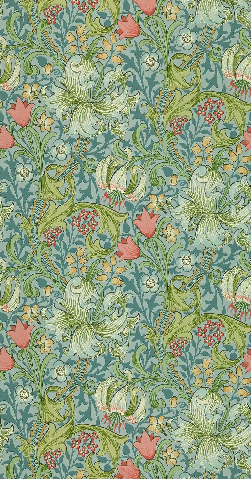 ウィリアムモリス壁紙 Golden Lily WM-8556-3