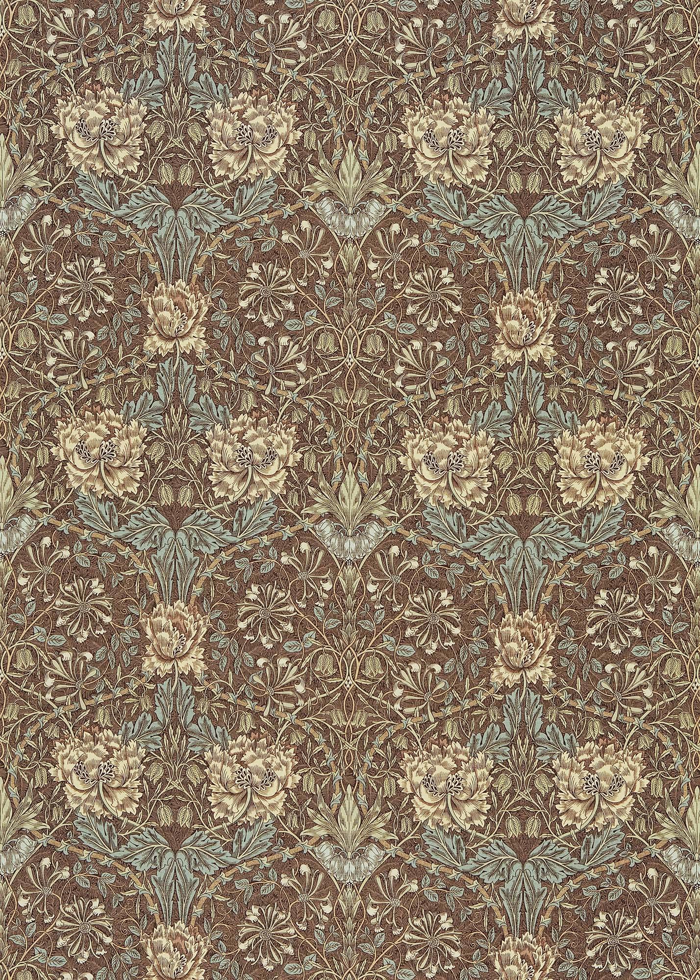 ウィリアムモリス生地 Honeysuckle & Tulip DMORHO-201