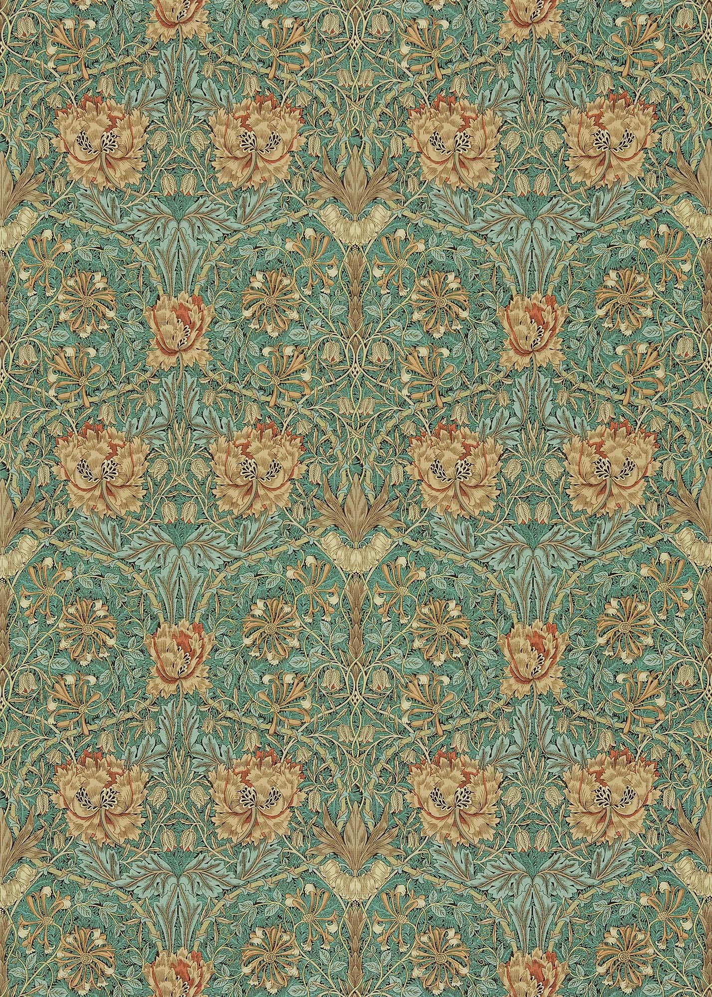 ウィリアムモリス生地 Honeysuckle & Tulip DMORHO-202