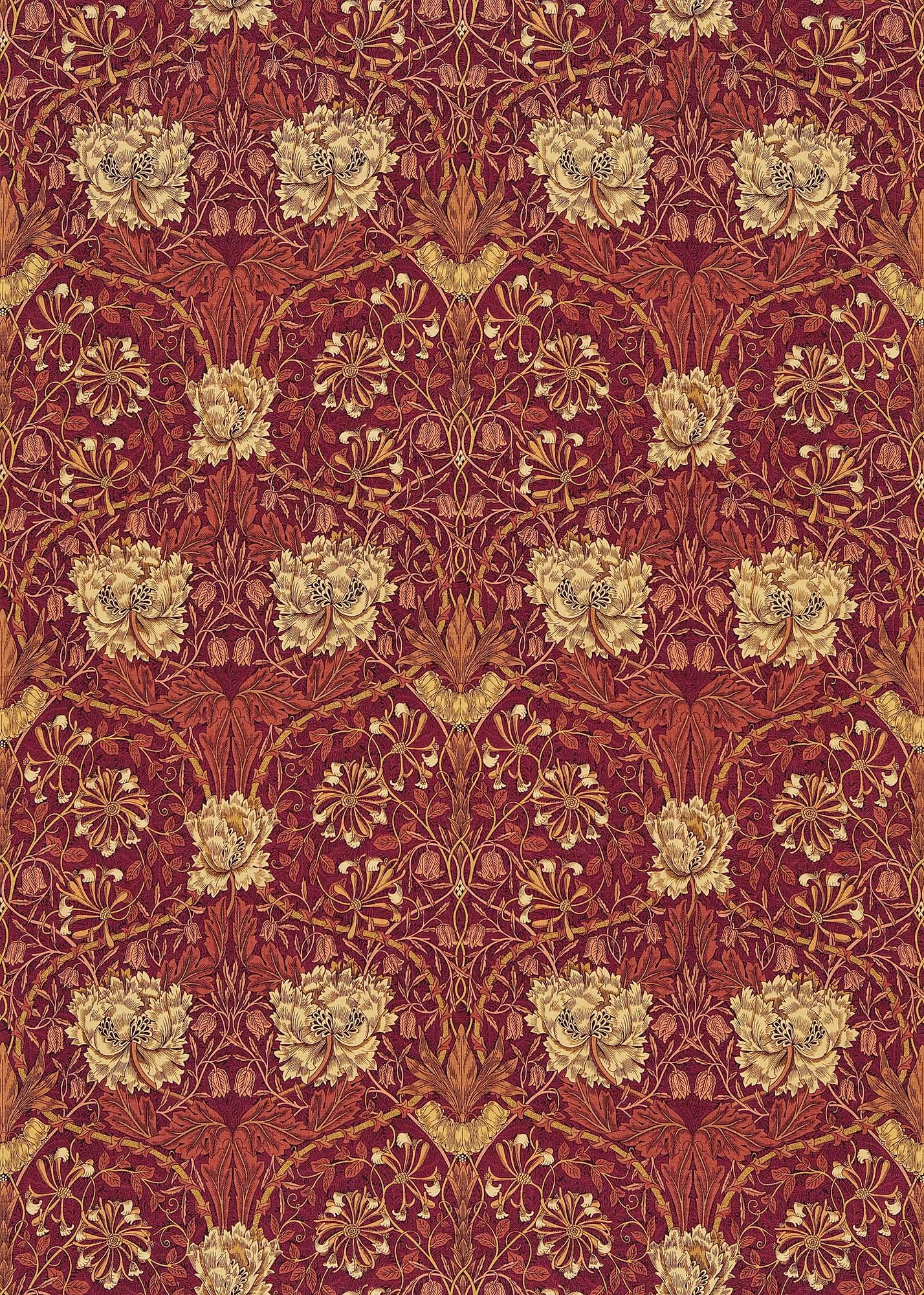 ウィリアムモリス生地 Honeysuckle & Tulip DMORHO-203