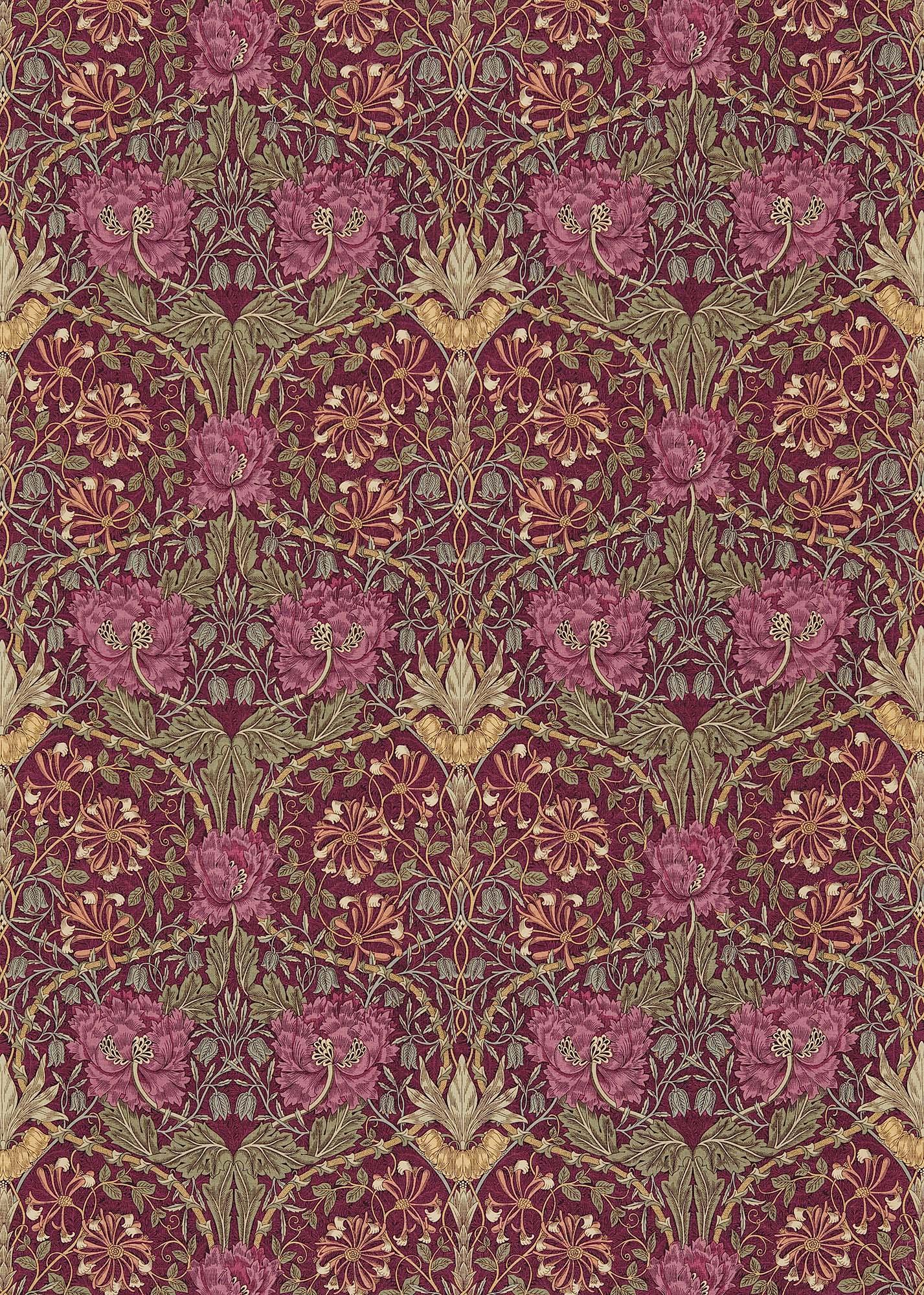 ウィリアムモリス生地 Honeysuckle & Tulip DMFPHT-204