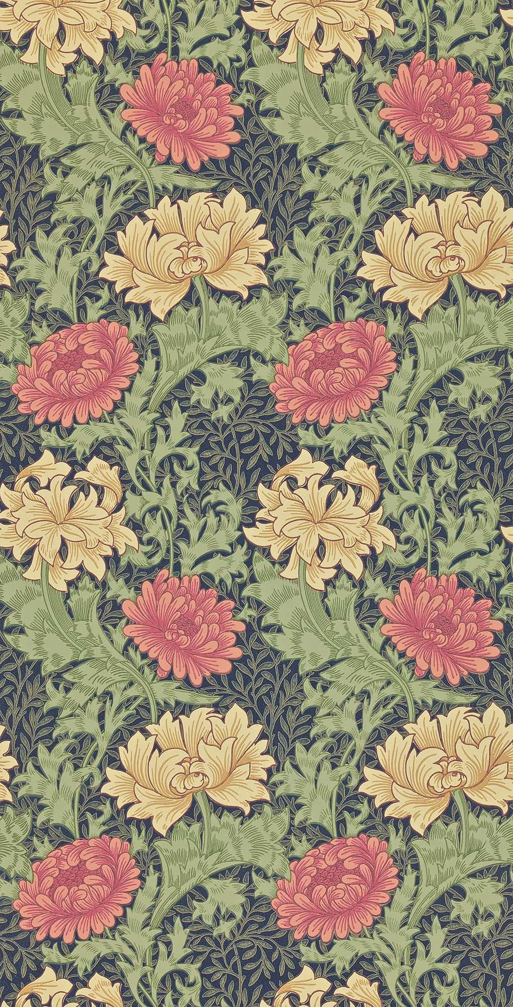 ウィリアムモリス壁紙 Chrysanthemum 212549