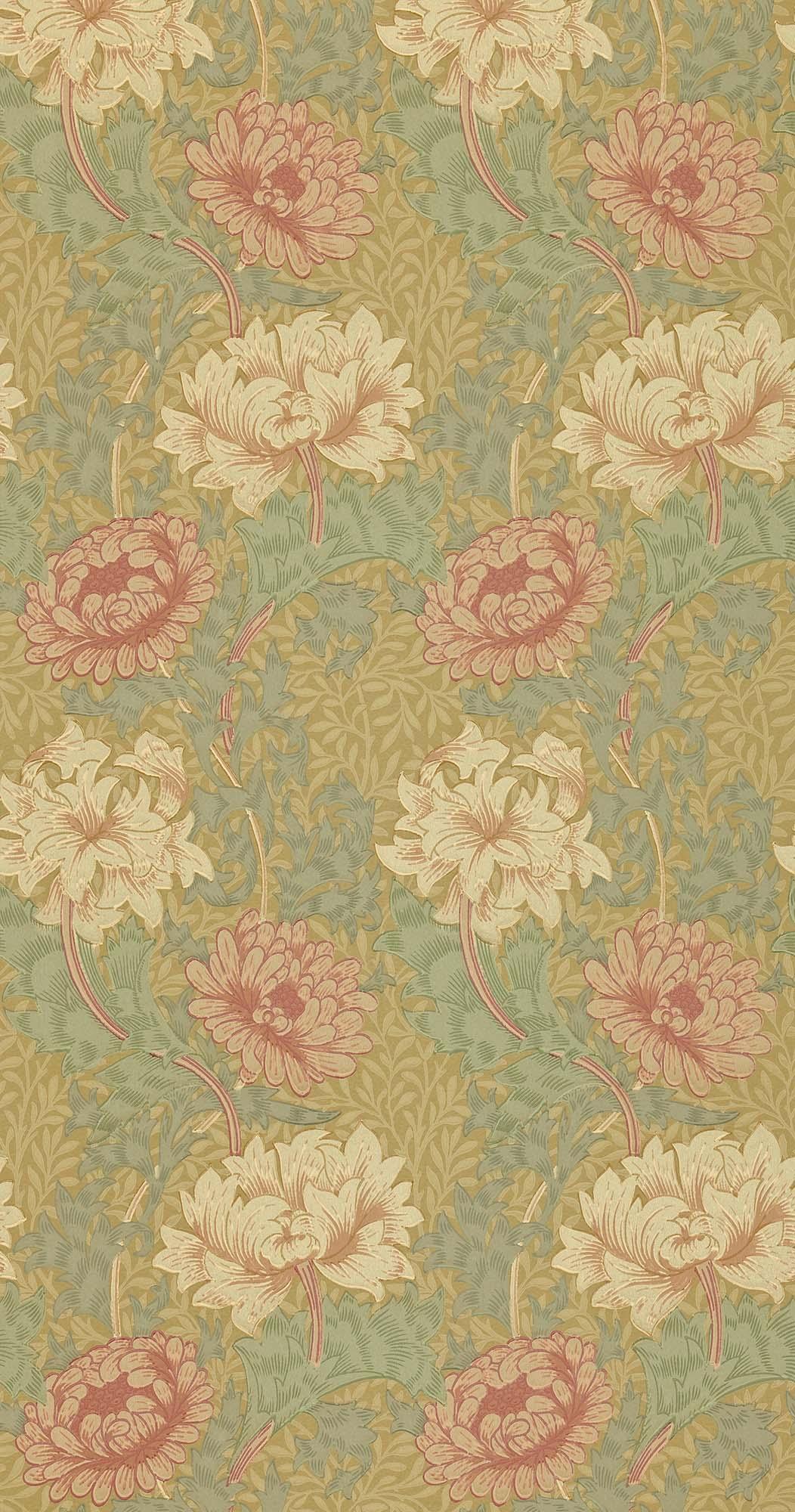 ウィリアムモリス壁紙 Chrysanthemum WM-7612-3