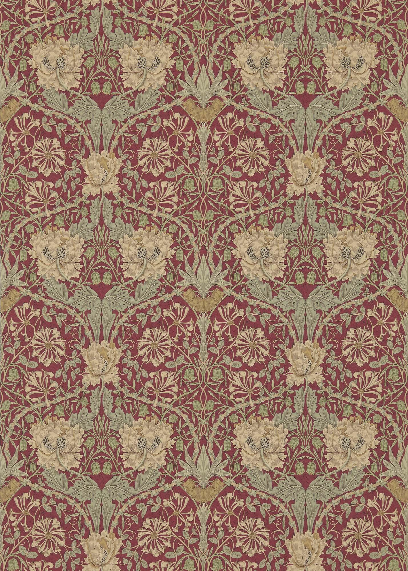 ウィリアムモリス壁紙 Honeysuckle & Tulip 214700