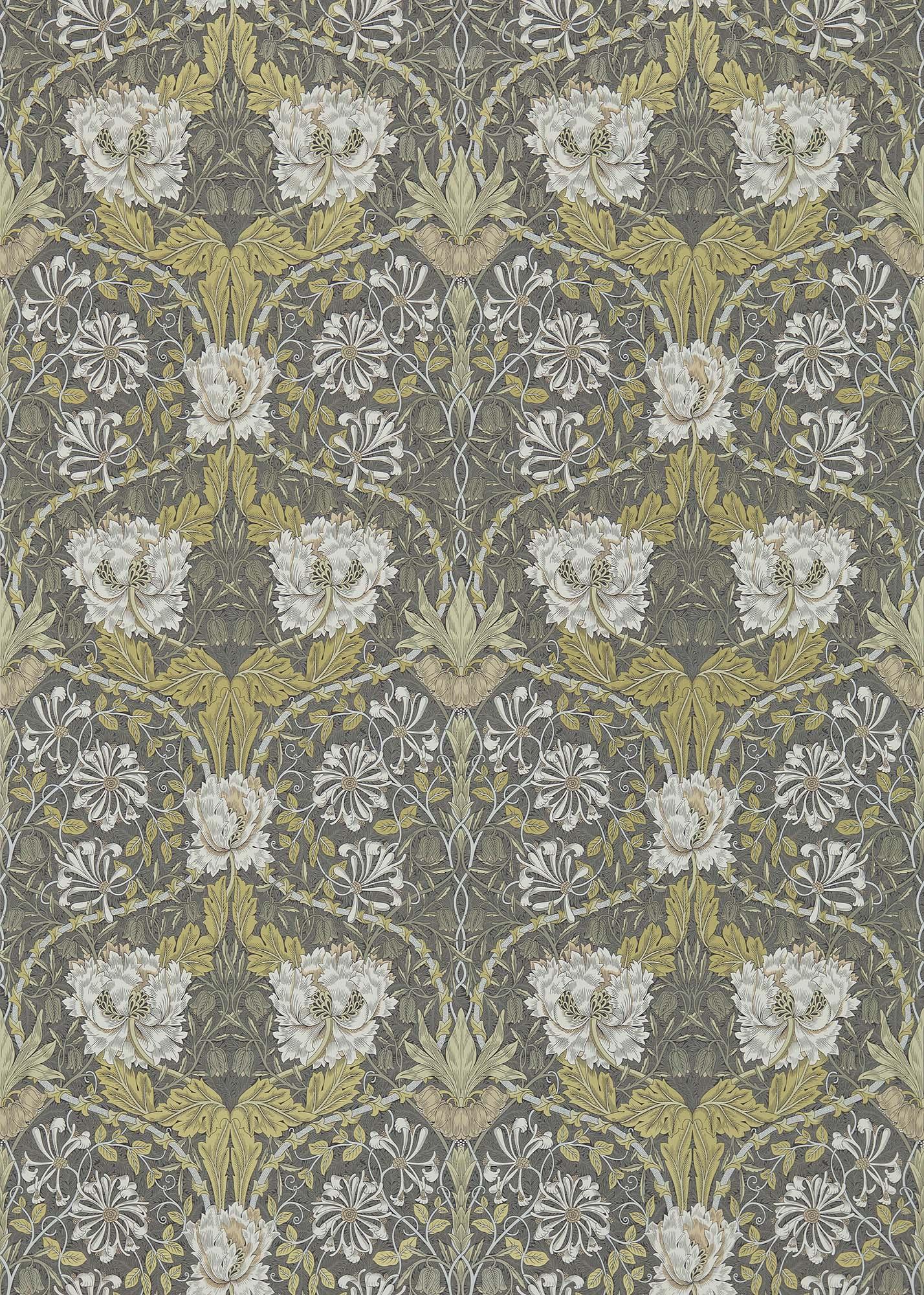 ウィリアムモリス壁紙 Honeysuckle & Tulip 214701