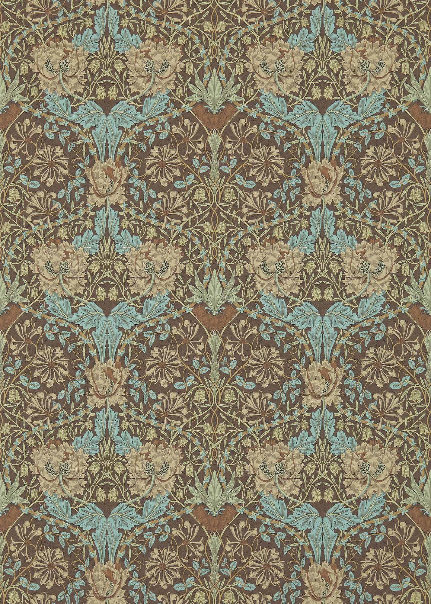 ウィリアムモリス壁紙 Honeysuckle & Tulip 214702
