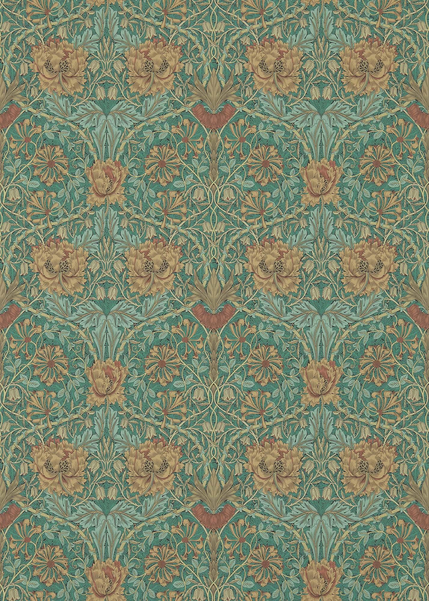 ウィリアムモリス壁紙 Honeysuckle & Tulip 214704