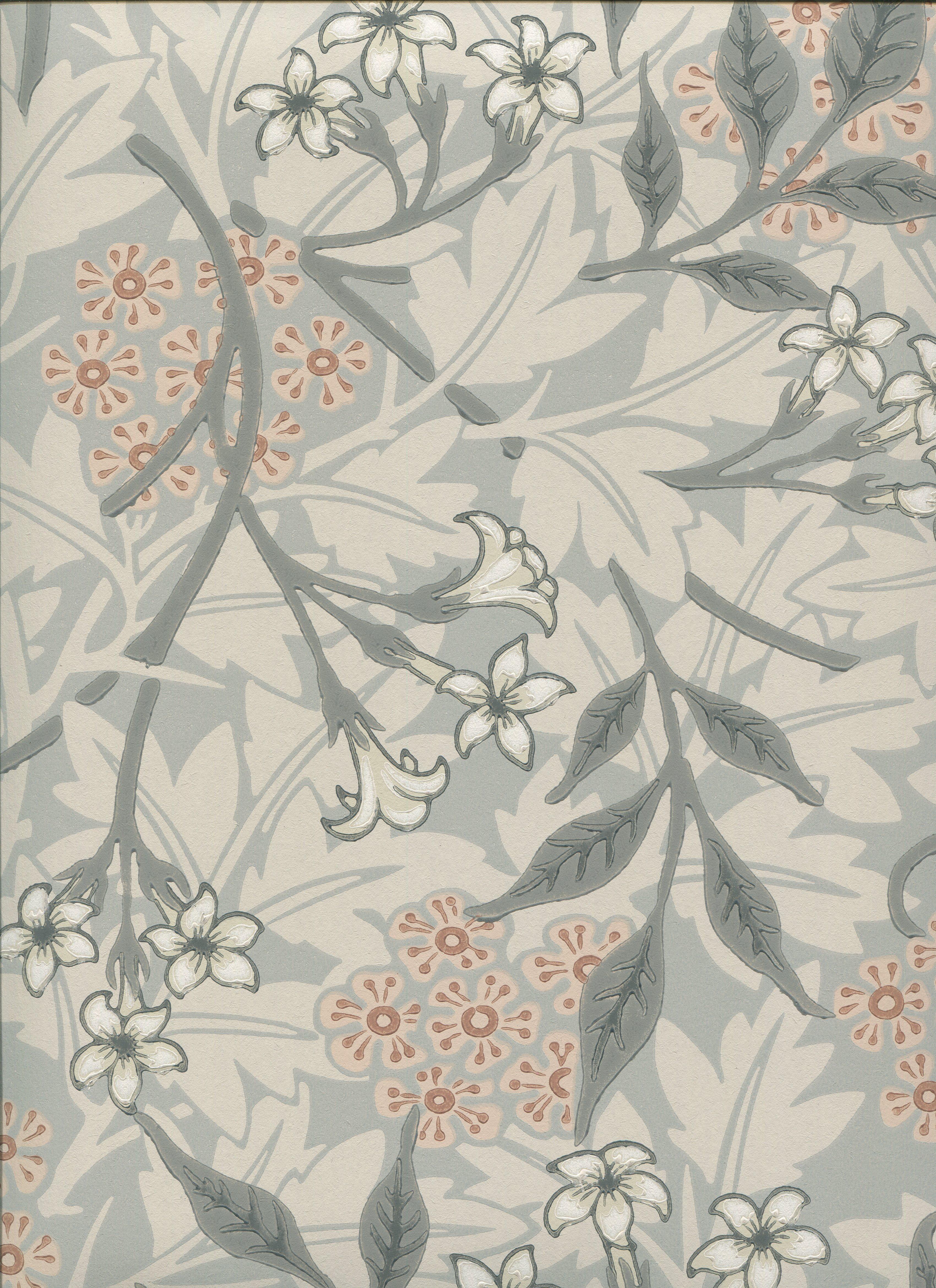 ウィリアムモリス壁紙 Jasmine 10m1巻 12 480 税別 ウィリアムモリス正規販売店 輸入ファブリック 自然素材生地のオーダーカーテンの店 布の森 Canbell