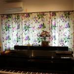 ピアノ室のカーテン 東根市H様邸
