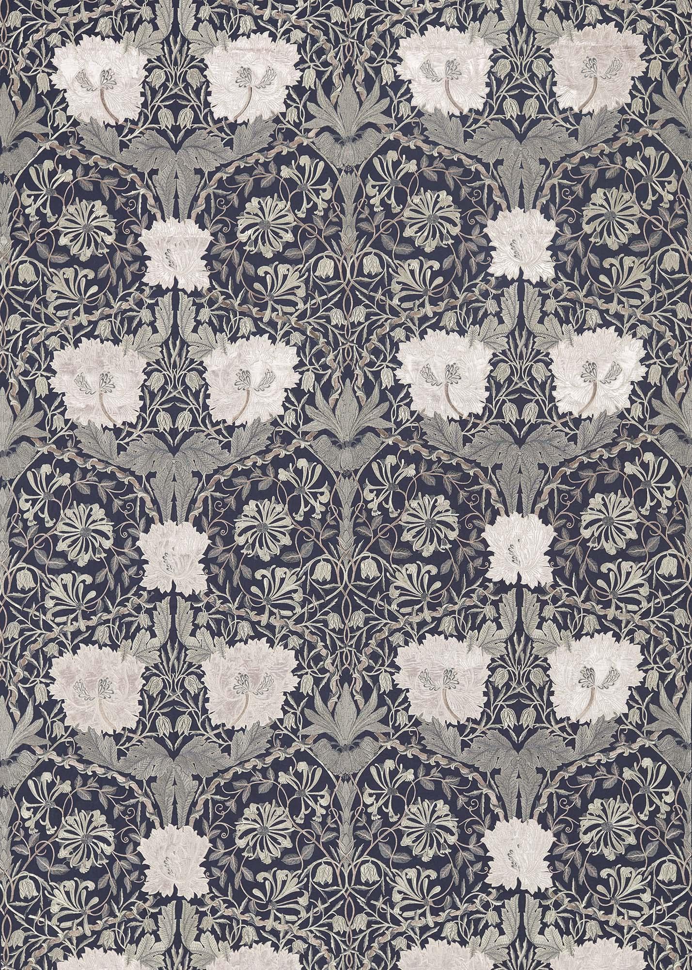 ウィリアムモリス生地 Pure Honeysuckle & Tulip Embroidery 236632
