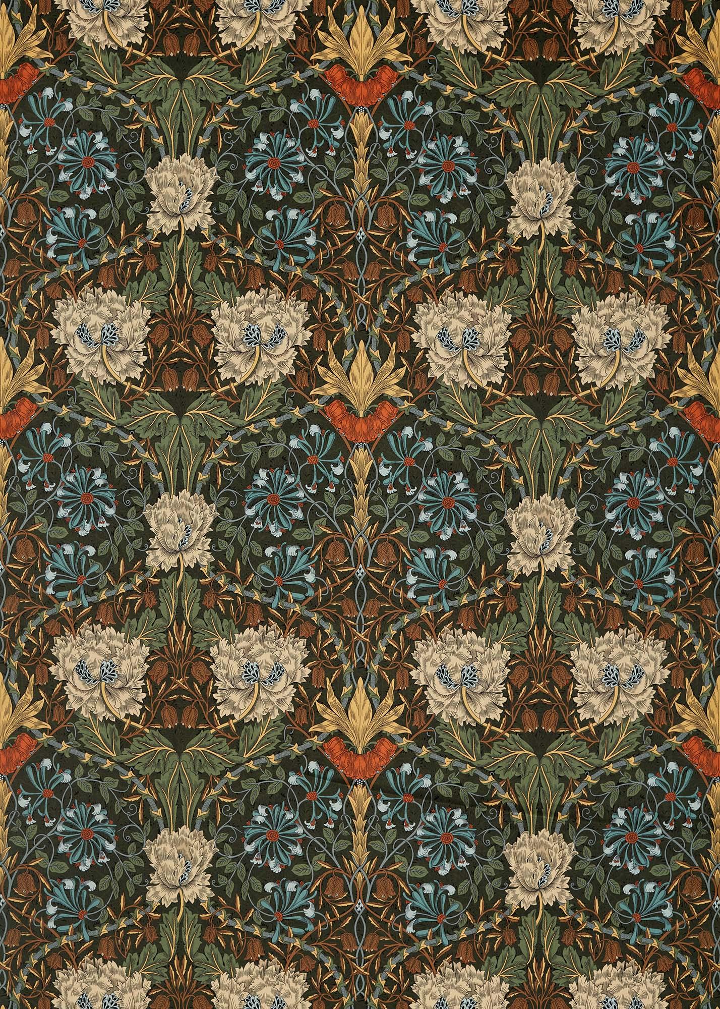 ウィリアムモリス生地 Honeysuckle and Tulip Velvet 236939
