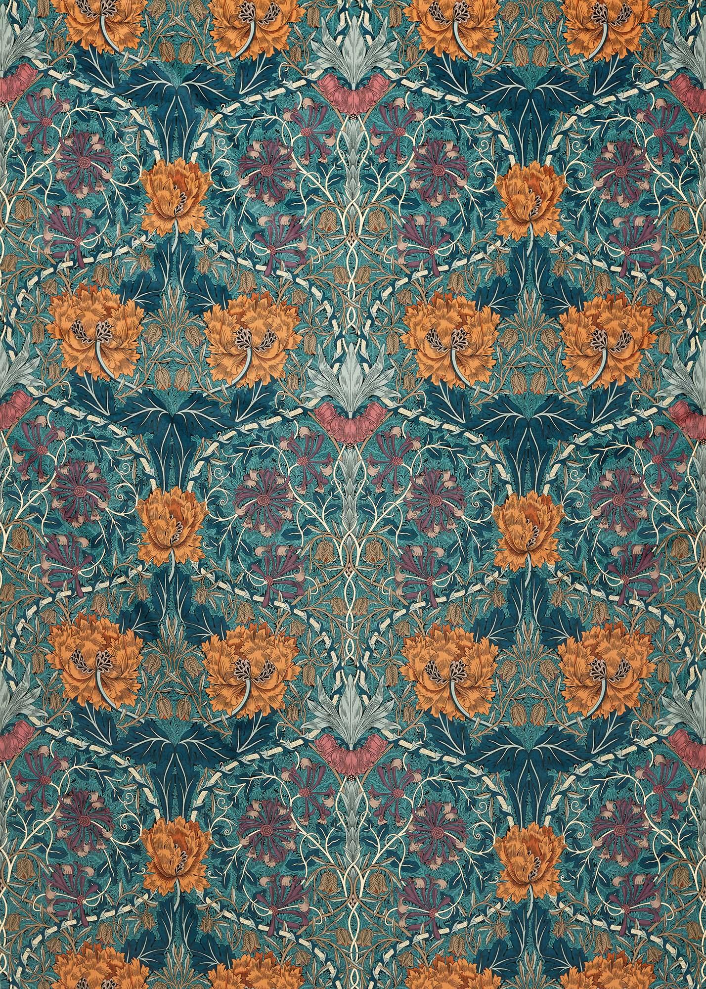 ウィリアムモリス生地 Honeysuckle and Tulip Velvet 236940