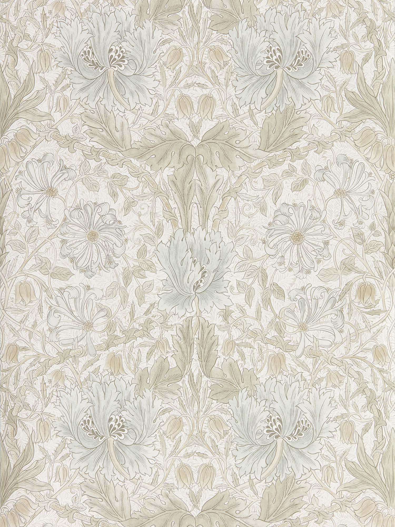 ウィリアムモリス壁紙 Pure Honeysuckle & Tulip 216526